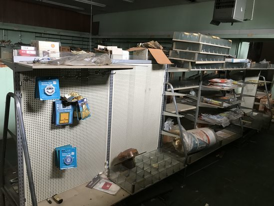 Vintage Lot of Double Sided Display Shelves with Merchandise Take as Little or As Much As You Want