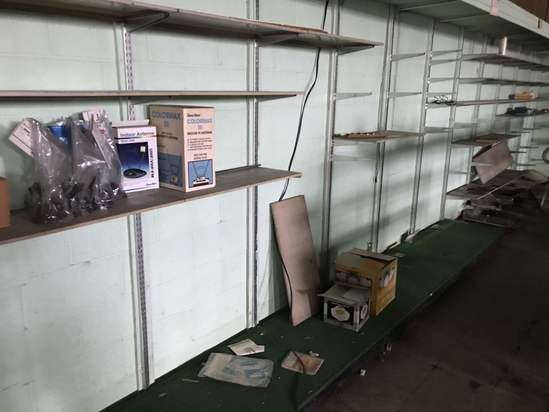Vintage Lot of Shelving with Some Merchandise - Take As Little or As Much As You Want