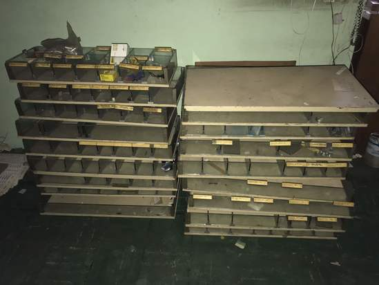 Large Lot of Shelving/Organizers -Great For Hardware!