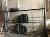 Vintage Metal Tire Rack