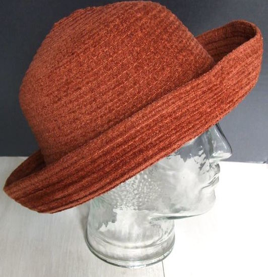 Burnt Orange Fall Poly Blend Kettle Brim Hat