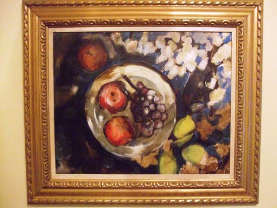 Joseph Bradley Fruit Plate Dated 2007 - Oil On Canvas