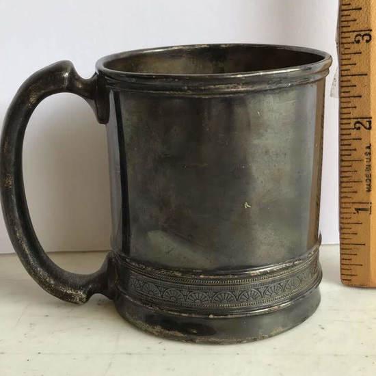 Vintage Gorham Silver Soldered & Etched Cup