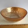 Vintage Jeannette Glass Marigold Iridescent Iris & Herringbone Serving Bowl