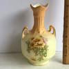Vintage Floral Porcelain Double Handled Bud Vase