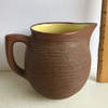 Pigeon Forge Pottery Pitcher with Yellow Glazed Interior