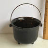 Vintage Small Glass Footed Cauldron
