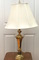 Tall Brass Finish Table Lamp