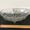 Vintage Footed Oval Bowl with Embossed Fruit