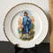 Vintage Blue Boy Plate with Gilt Edge by Crooksville China Co.
