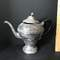 Vintage Electroplated Teapot with Black Handle