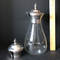 Vintage Tall Glass Decanter with Extra Silver Plate Top