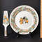 1986 Andrea by Sadek Christmas Partridge Platter with Serving Spatula