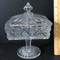 Pedestal Glass Candy Dish with Lid
