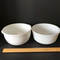 Pair of Vintage Milk Glass Mixing Bowls