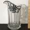 Hand Painted Vintage Glass Pitcher