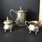 Vintage Silver Plated Teapot, Creamer & Lidded Sugar Bowl Set