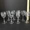 8 pc Stemware with Silver Rims & Frosted Leaf Design
