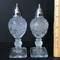 Pair of Vintage Pedestal Glass Salt & Pepper Shakers