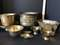 Lot of Misc Vintage Brass Items - Planters, Bowls, Baskets & More