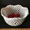 Ceramic Basket Full of Ceramic Cherries