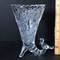 Vintage Hofbauer Byrnes Lead Crystal Cornucopia Vase