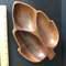 Divided Wooden Leaf Dish