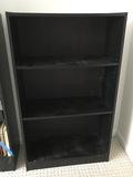 Black Wooden 3-Tier Book Shelf