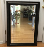 Large Rectangular Mirror with Bronzed Decorative Frame