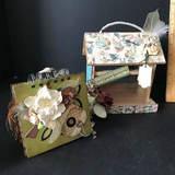 Adorable Decorative Bird Feeder with Scrapbook Album Inside