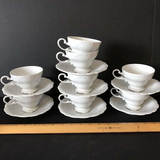 Vintage Johann Haviland Tea Cup & Saucer Sets Bavaria Germany