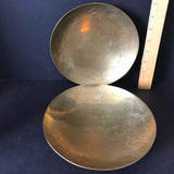 Pair of Vintage Etched Brass Bowls