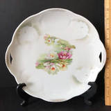 Double Handled Vintage Bavaria Lily Pad Sandwich Plate