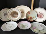 Lot of 7 Vintage Platters & Plates