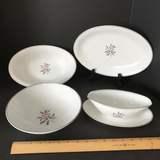 4 pc Noritake China Lot with Rose Design