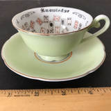 """""""The Cup of Knowledge"""" Tea Cup & Saucer - Made in Japan"""