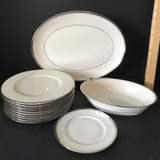"""Lot of Franciscan """"Huntington"""" Oval Serving Bowl & Platter"""