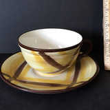 Organdie Vernonware Hand Painted Cup & Saucer