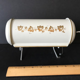 Vintage Wall Mounted Or Hook On Lamp with Gold Leaf Design