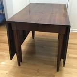Beautiful Drop Leaf Gate Leg Dining Table with Extra Leaf & Protective Pads