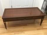 Mid-Century Modern Single Drawer Coffee Table on Casters