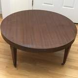 Mid-Century Round Coffee Table on Casters by Mersman