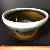 Large Glazed Mixing Bowl with Drip Design