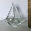 Glass Sailboat Paperweight