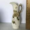 Vintage Porcelain Pitcher with Rose Design & Gilt Handle by Enesco