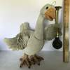 Adorable Goose Decorative Statue with Horn