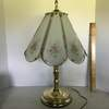 Brass Finish Floral Touch Lamp