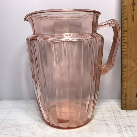 Pretty Pink Reproduction Depression Glass Pitcher
