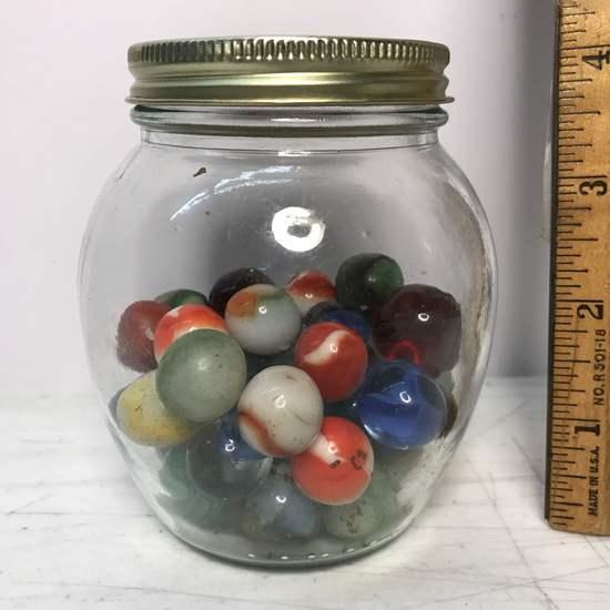 Jar of Vintage Marbles
