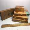 Lot of 5 Vintage Wooden Cigar Boxes - Great for Crafts!